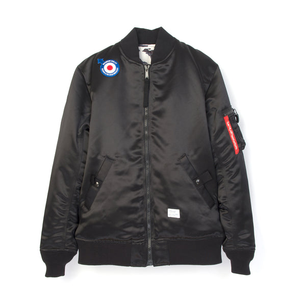 Bedwin & The Heartbreakers | 'Duffy' Reversible MA-1 Jacket Black