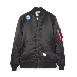 Bedwin & The Heartbreakers | 'Duffy' Reversible MA-1 Jacket Black - Concrete