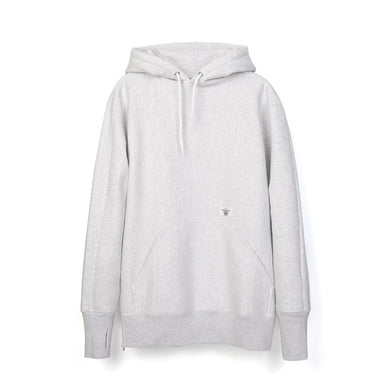 Bedwin & The Heartbreakers | 'David' L/S Heavy Cotton Hooded Sweat Gray - Concrete
