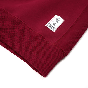 Bedwin & The Heartbreakers | 'Lou' L/S C-Neck Sweat Burgundy - Concrete
