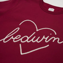 將圖像加載到畫廊查看器中Bedwin & The Heartbreakers | 'Lou' L/S C-Neck Sweat Burgundy - Concrete