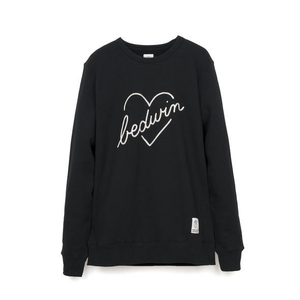 Bedwin & The Heartbreakers | 'Lou' L/S C-Neck Sweat Black