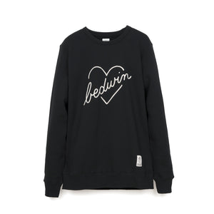 Bedwin & The Heartbreakers | 'Lou' L/S C-Neck Sweat Black - Concrete