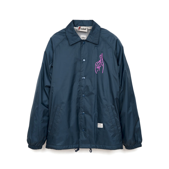 Bedwin & The Heartbreakers | 'Jill' L/S Coach Jacket Navy - Concrete