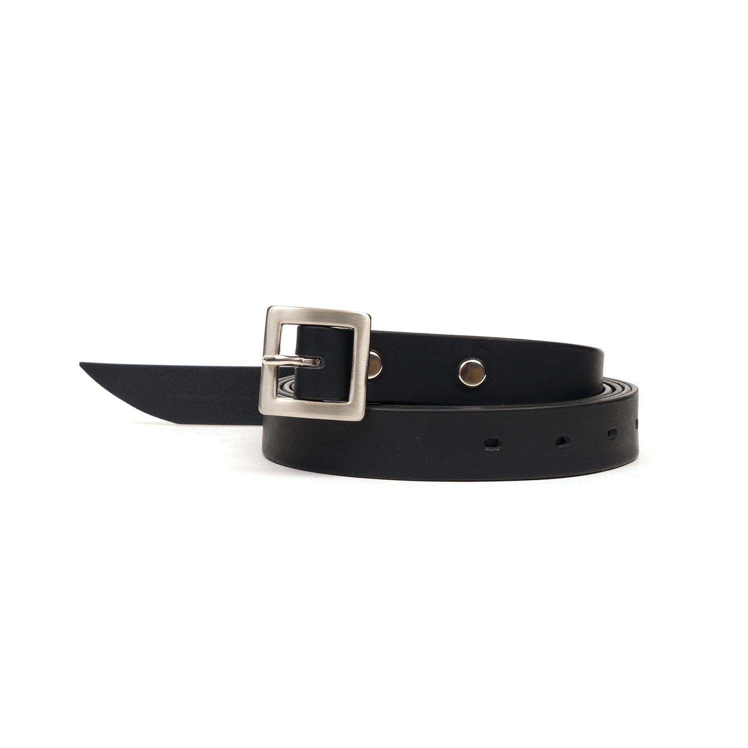 Bedwin 'Terry' Leather Belt Black