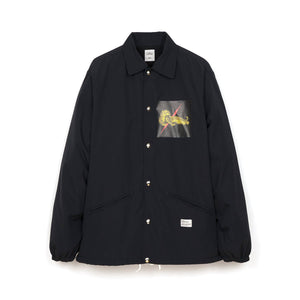 Bedwin & The Heartbreakers | 'Jill' Coaches Jacket Black - Concrete