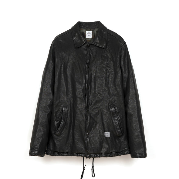 Bedwin & The Heartbreakers | 'Jill' Leather Coaches Jacket FD Black - Concrete