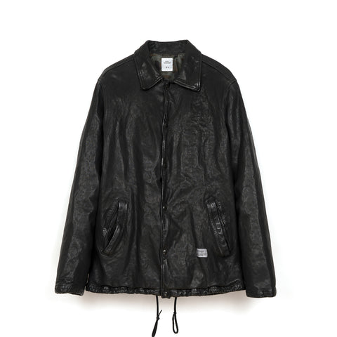 Bedwin 'Jill' Leather Coaches Jacket FD Black