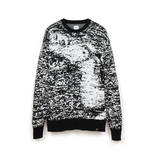 Afbeelding in Gallery-weergave laden, Bedwin 'Wright' C-Neck Jacquard Knit Sweater White/Black
