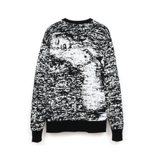 Load image into Gallery viewer, Bedwin 'Wright' C-Neck Jacquard Knit Sweater White/Black