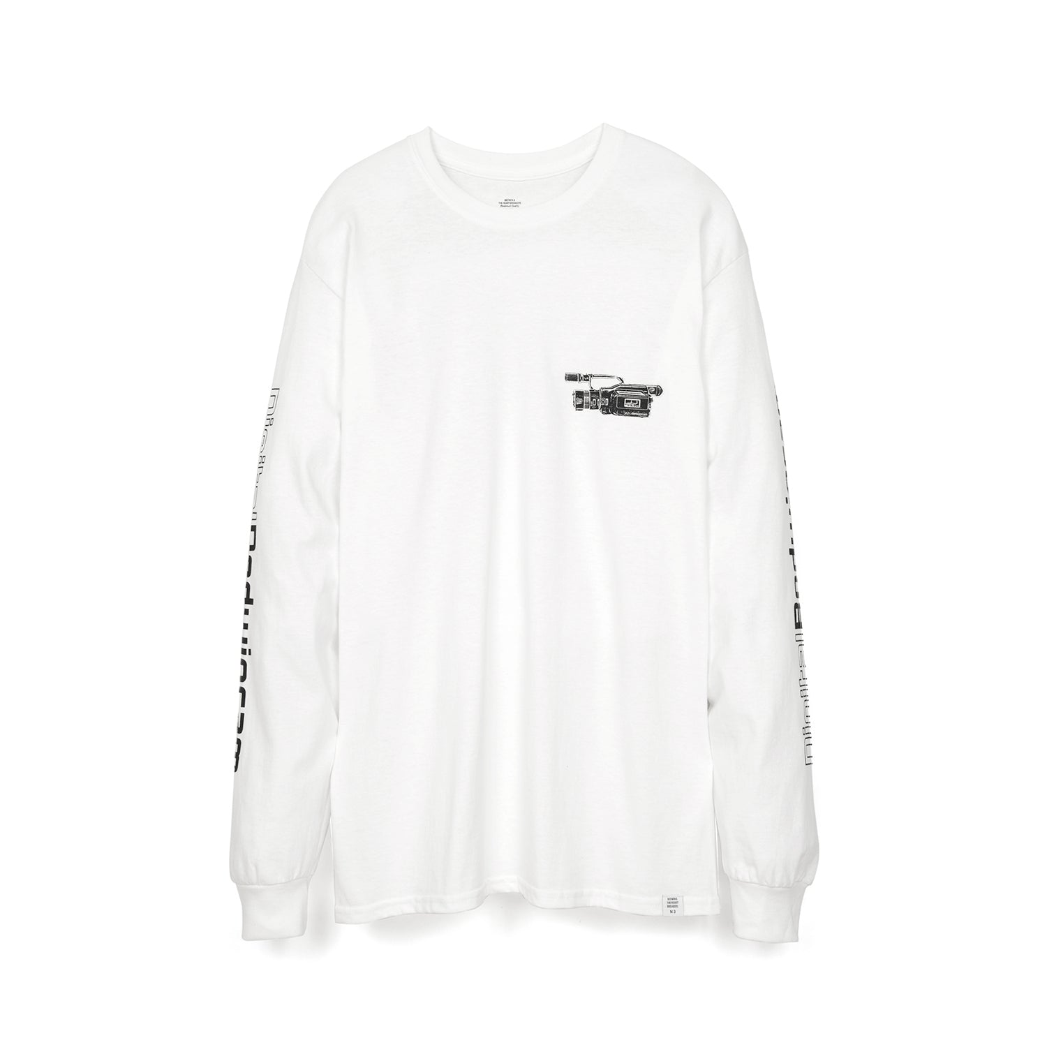 Bedwin 'Keith' L/S Print T-Shirt White/Black