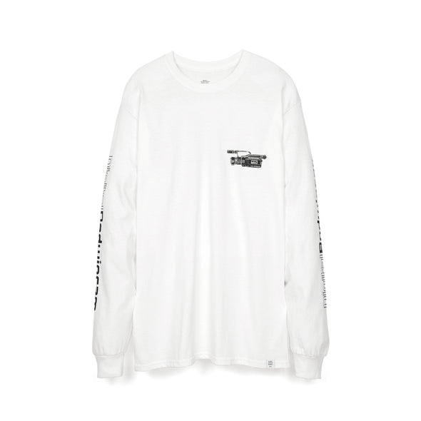 Bedwin & The Heartbreakers | 'Keith' L/S Print T-Shirt White/Black - Concrete