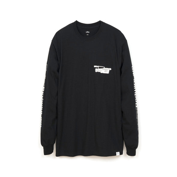 Bedwin & The Heartbreakers | 'Keith' L/S Print T-Shirt Black - Concrete