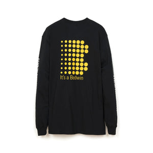 Bedwin 'Keith' L/S Print T-Shirt Black