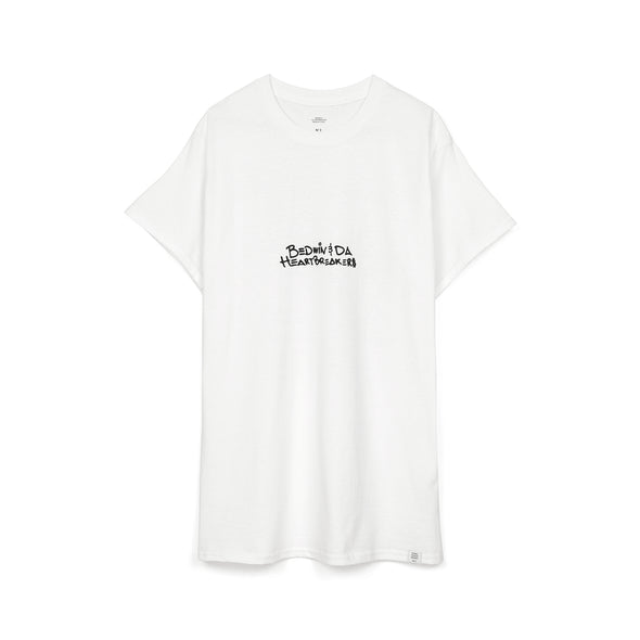 Bedwin & The Heartbreakers | 'Lee' S/S Print T-Shirt White - Concrete