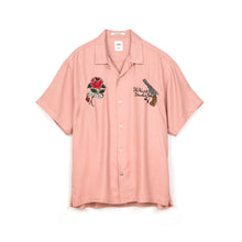 Load image into Gallery viewer, Bedwin 'Marshall' Open Collar Souvenir Shirt Pink