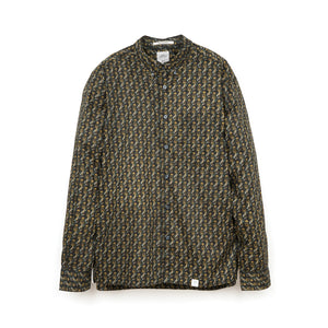 Bedwin & The Heartbreakers | 'Shaw' L/S BD Paisley Broad Shirt Black - Concrete