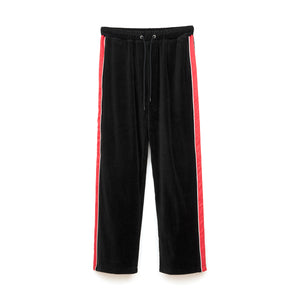 Bedwin 'Thomas' 10/L Velour Pants Black