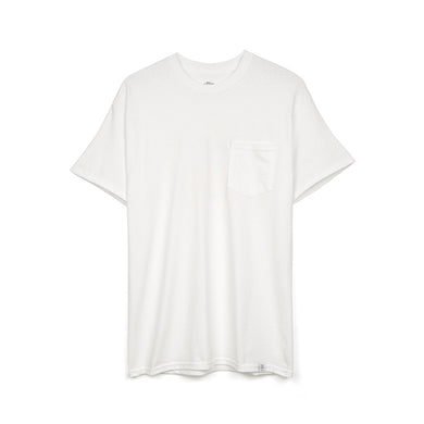 Bedwin 'Curtis' S/S Print Pocket T-Shirt White