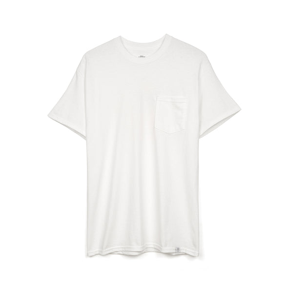 Bedwin & The Heartbreakers | 'Curtis' S/S Print Pocket T-Shirt White - Concrete