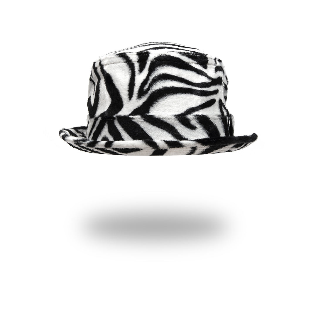 Bedwin & The Heartbreakers | 'Chet' Fake Fur Poke Pie Hat Zebra