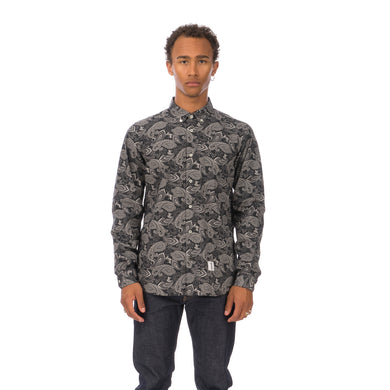 Bedwin 'Bob' Long Sleeve OG Bandana Work Shirt Black