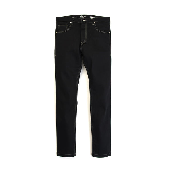 Bedwin 'Geoffrey' Skinny Stretch Denimpants Raw Black