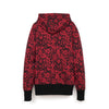 Bedwin 'Ed' L/S Flower Print Hooded Sweat Red/Black