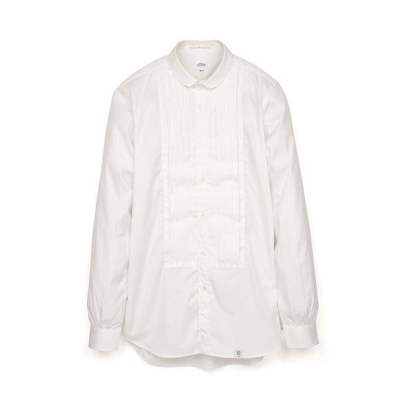 Bedwin & The Heartbreakers | x Curtis Kulig 'Oliva' L/S Round Collar Bosom Shirt White