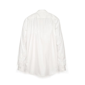 Bedwin & The Heartbreakers | x Curtis Kulig 'Oliva' L/S Round Collar Bosom Shirt White - Concrete