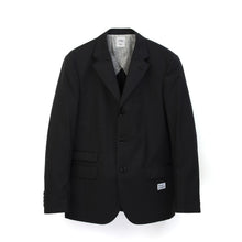 將圖像加載到畫廊查看器中Bedwin & The Heartbreakers | 'Michael' 3B Guabello Wool Tailored Jacket Charcoal - Concrete