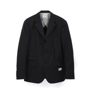 Bedwin & The Heartbreakers | 'Michael' 3B Guabello Wool Tailored Jacket Charcoal - Concrete