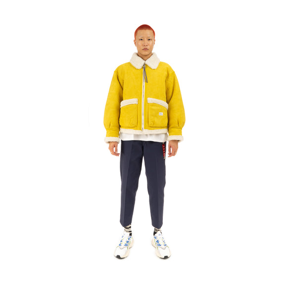 Bedwin Arnold Type B3 Fake Mouton Jacket Yellow