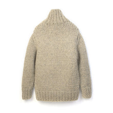 Load image into Gallery viewer, Bedwin 'Asher' T-Neck Hand Knit Sweater Beige