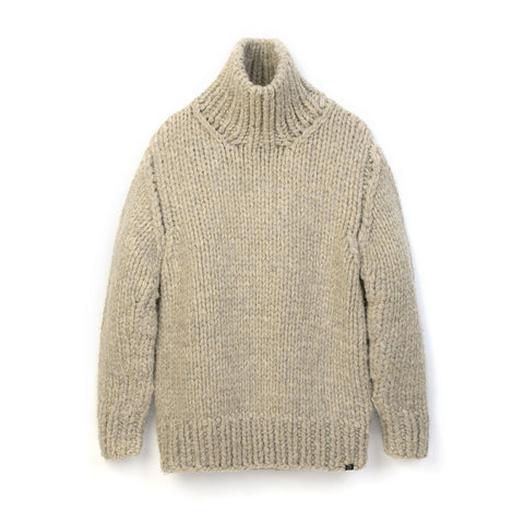 Bedwin 'Asher' T-Neck Hand Knit Sweater Beige