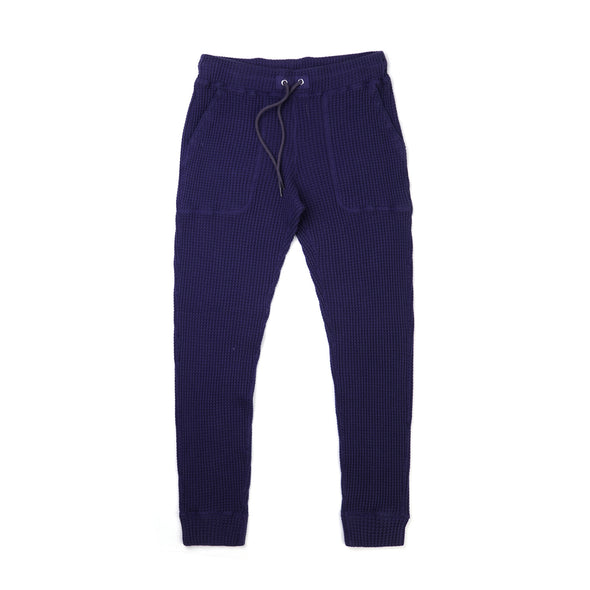 Bedwin & The Heartbreakers | 'Cucchi' 10L Tapered Fit Thermal Pants Navy - Concrete