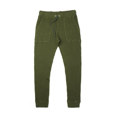 Bedwin & The Heartbreakers | 'Cucchi' 10L Tapered Fit Thermal Pants Olive