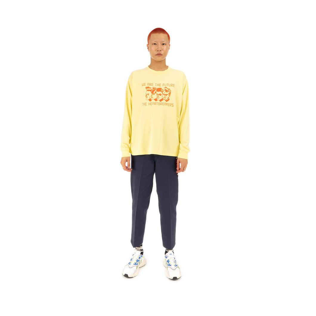 Bedwin & The Heartbreakers | 'Florian' Long Sleeve Print T-Shirt Yellow
