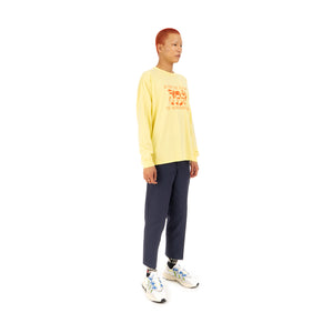Bedwin & The Heartbreakers | 'Florian' Long Sleeve Print T-Shirt Yellow - Concrete