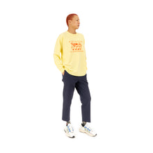 將圖像加載到畫廊查看器中Bedwin & The Heartbreakers | 'Florian' Long Sleeve Print T-Shirt Yellow - Concrete