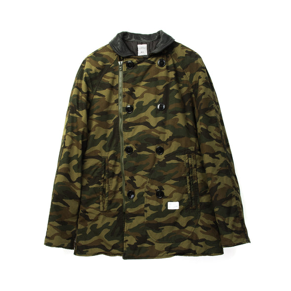 Bedwin & The Heartbreakers | 'Marlon' Deck Camo Pea Coat Camo - Concrete
