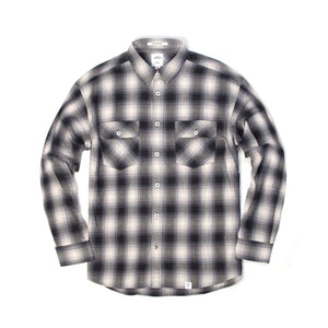 Bedwin 'Rick' L/S Flannel Check Shirt Gray