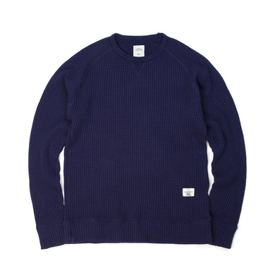 Bedwin & The Heartbreakers | 'Scharf' L/S Big Thermal Sweat Navy