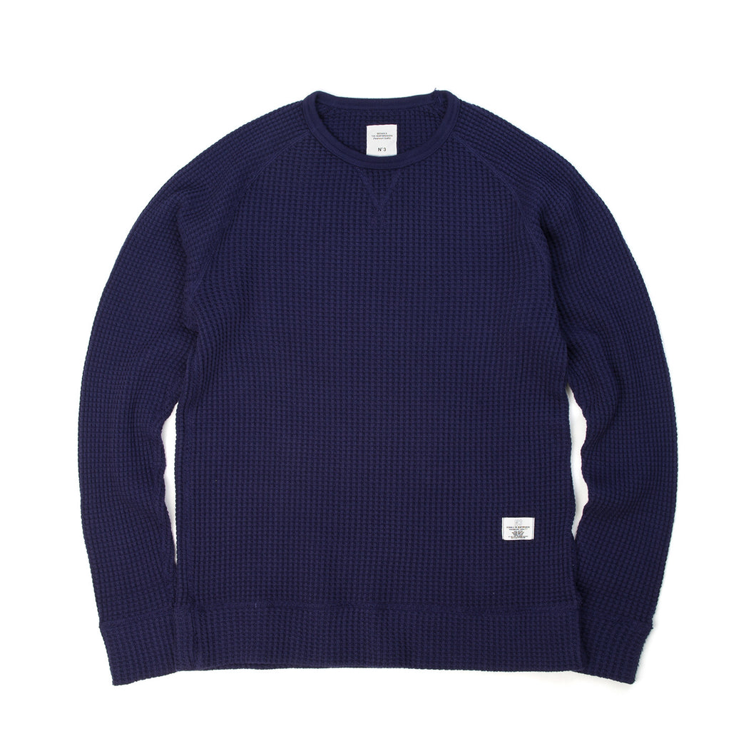 Bedwin & The Heartbreakers | 'Scharf' L/S Big Thermal Sweat Navy - Concrete