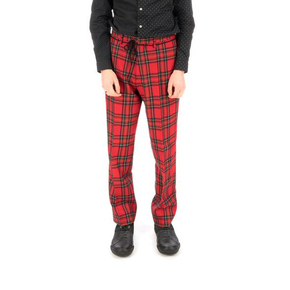 Bedwin & The Heartbreakers | 'Thunders' 10/L Wool Flannel Pants Red - Concrete