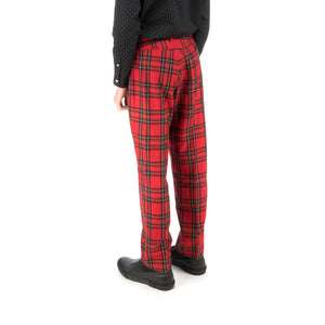 Bedwin 'Thunders' 10/L Wool Flannel Pants Red