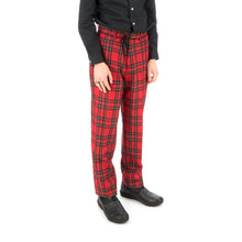 Load image into Gallery viewer, Bedwin & The Heartbreakers | 'Thunders' 10/L Wool Flannel Pants Red