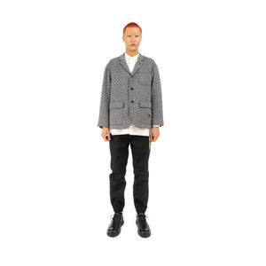 Bedwin & The Heartbreakers | 'Travis' 3B Tweed Taylor Jacket Navy - Concrete