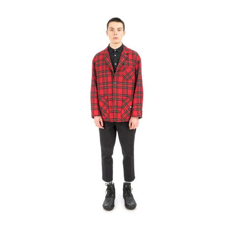 Bedwin 'Travis' 4B Wool Flannel Taylor Jacket Red