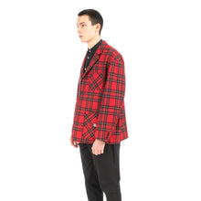 Load image into Gallery viewer, Bedwin & The Heartbreakers | 'Travis' 4B Wool Flannel Taylor Jacket Red